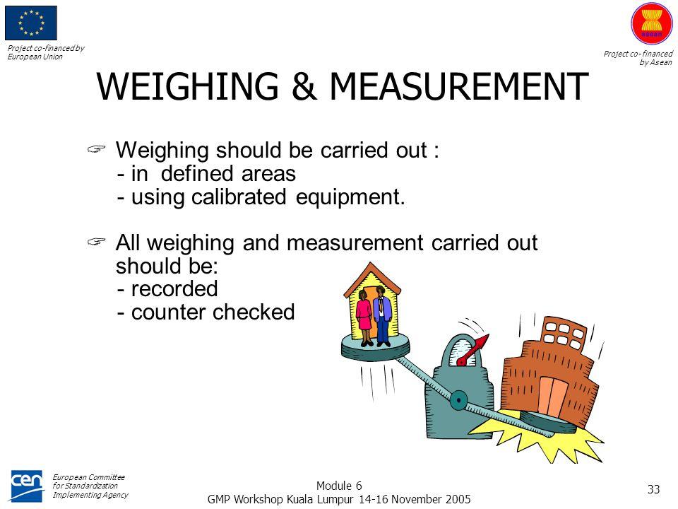 WEIGHING & MEASUREMENT