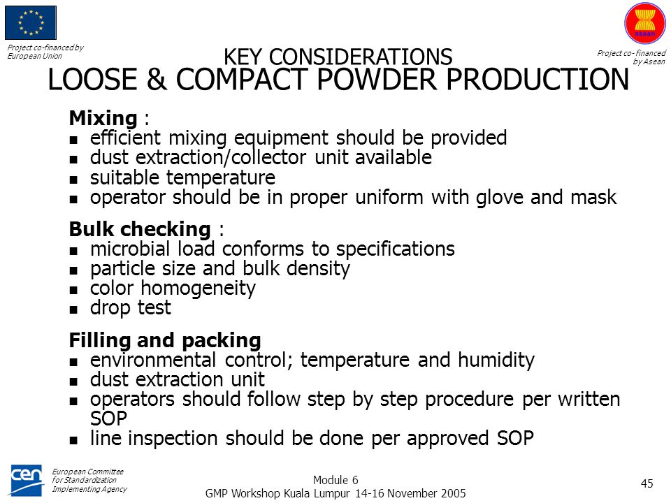 LOOSE & COMPACT POWDER PRODUCTION