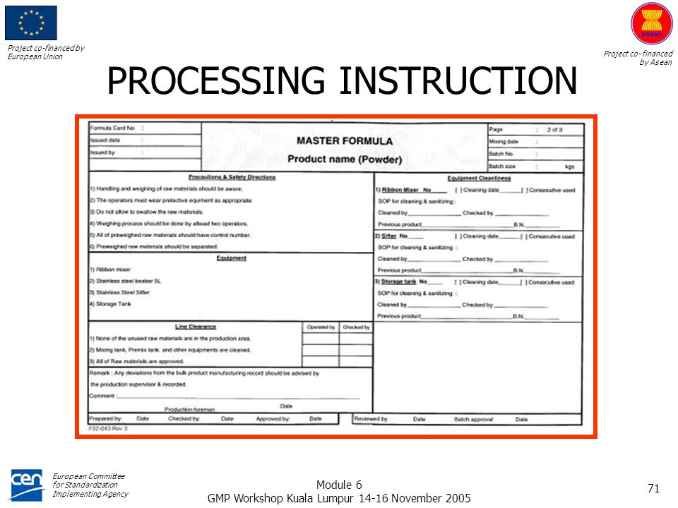 PROCESSING INSTRUCTION