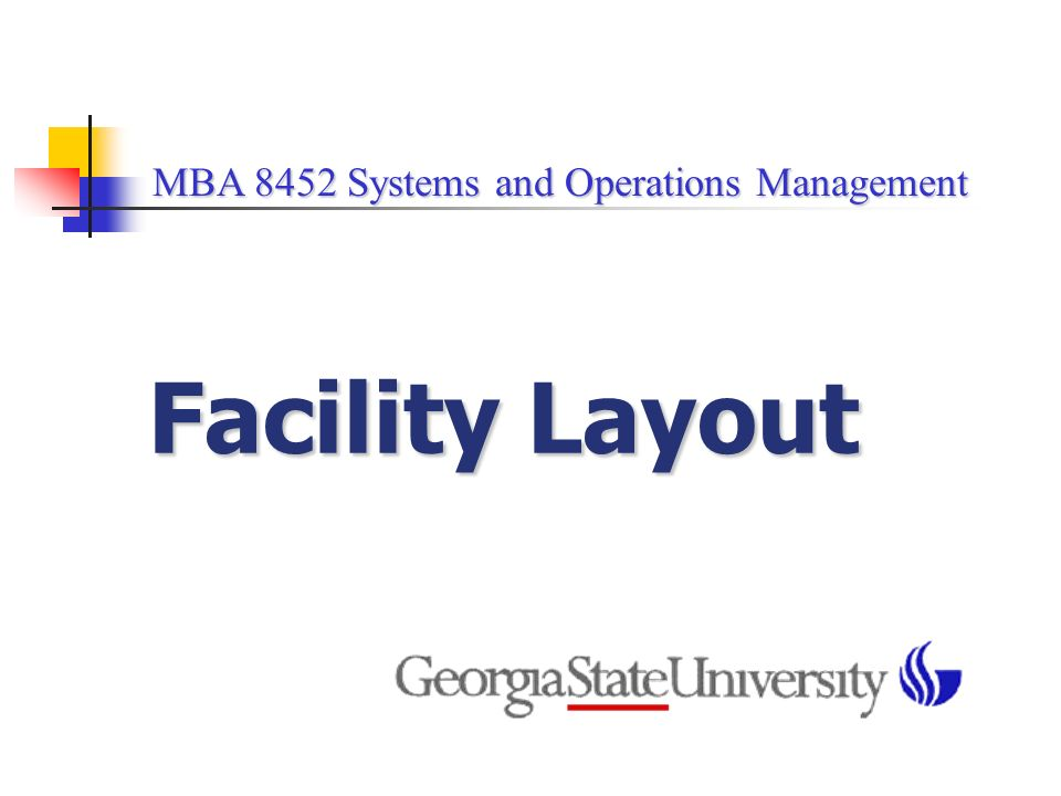 MBA Operations Management