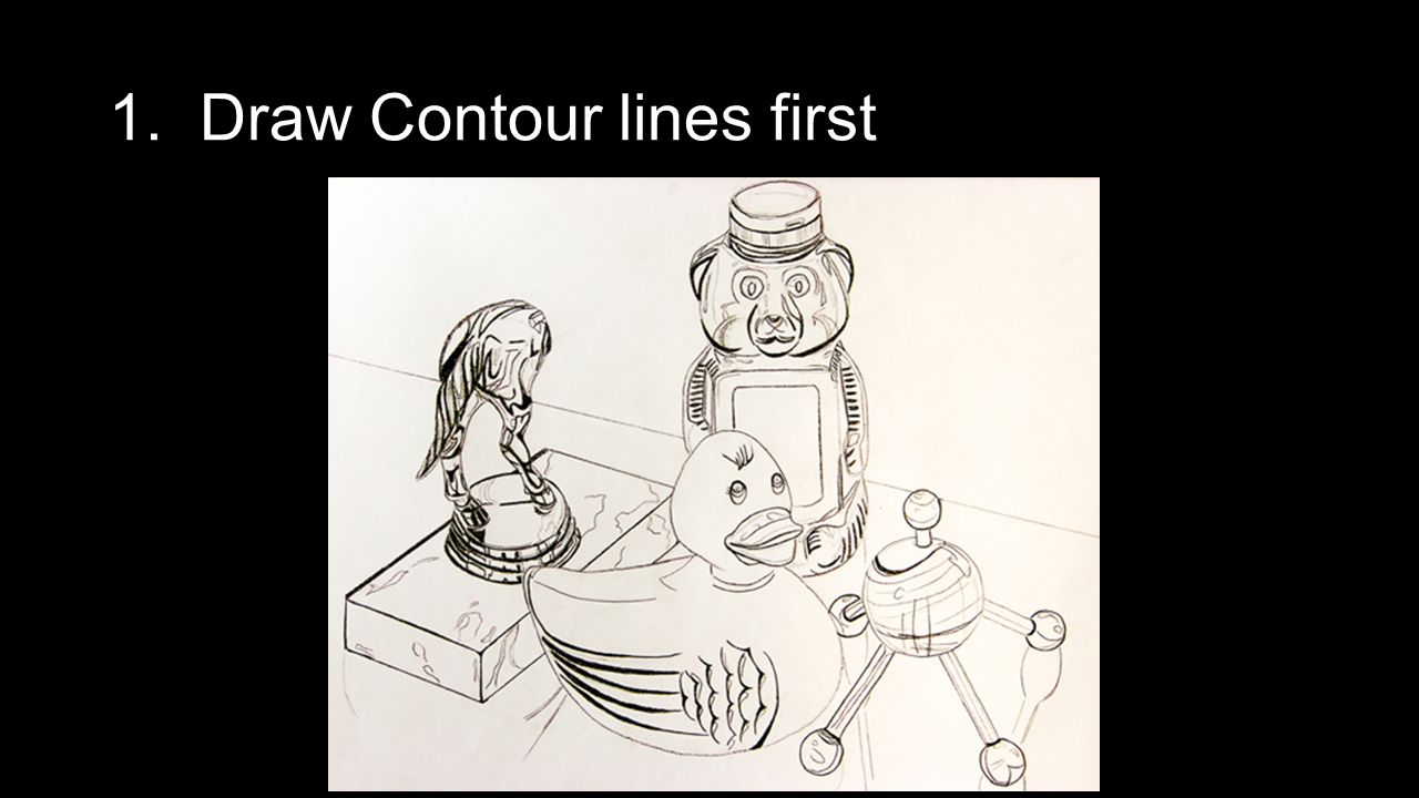 Contour Line Drawing Powerpoint : Still life ppt video online download
