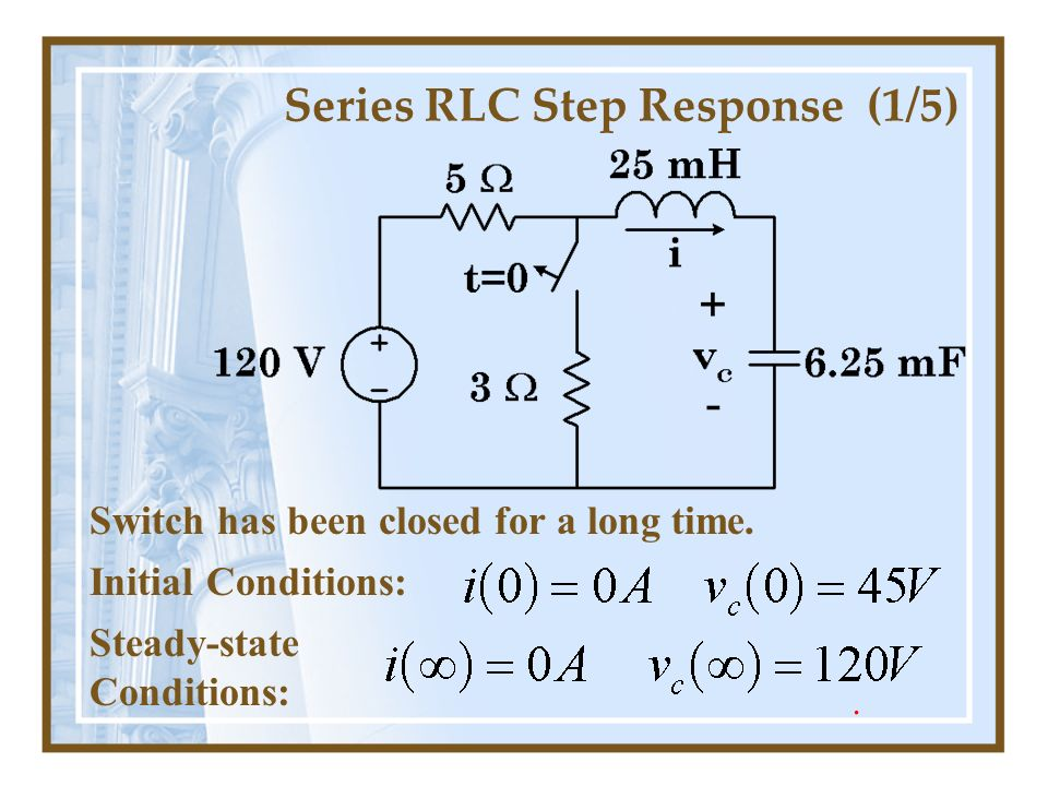 Series RLC Step Response (1/5)