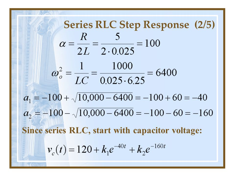 Series RLC Step Response (2/5)