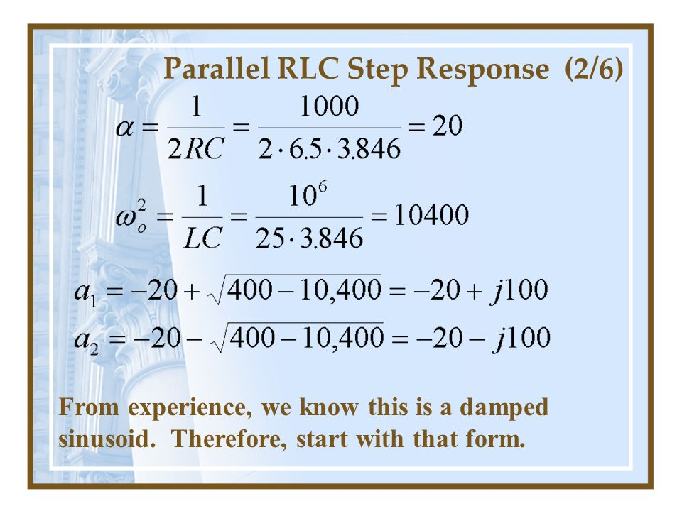 Parallel RLC Step Response (2/6)