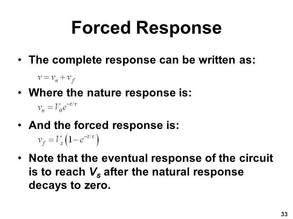Forced Response Vs Natural Response