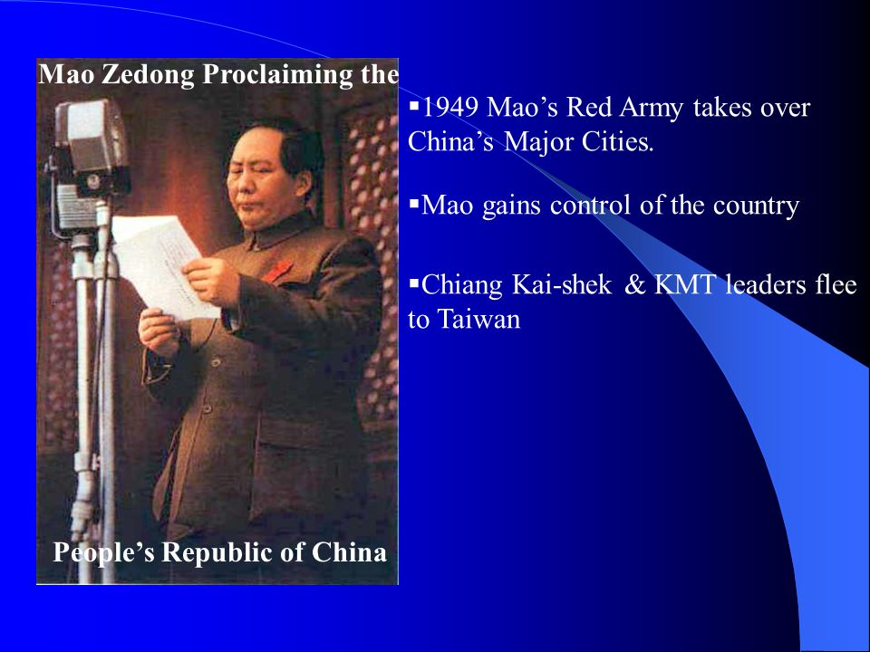 why did the communists gain control of china in 1949 essay One reason the chinese communists were able to gain control of china was and mao zedong's great leap forward was the communist revolution in china was.