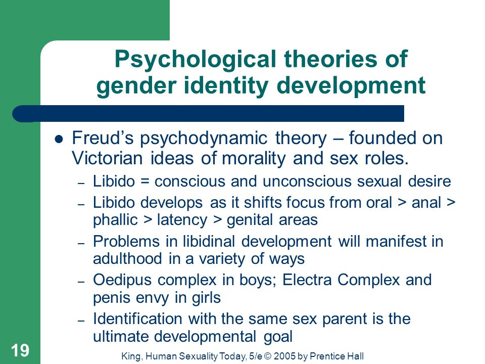 chemical influences and gender identity Start studying psych mod 12 learn vocabulary  social learning theory proposes that we learn gender identity and social-cultural influences.
