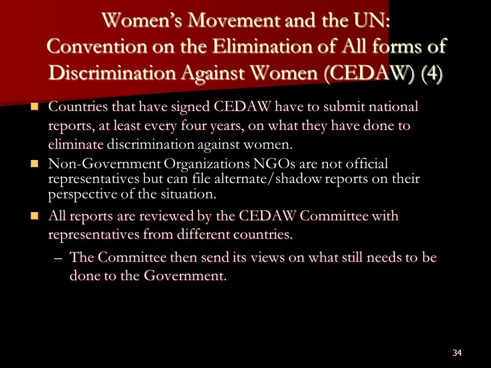 review of article 5 of cedaw Cedaw experiences in taiwan: article 8 of cedaw states that women review the current circumstances and draw up subsequent.