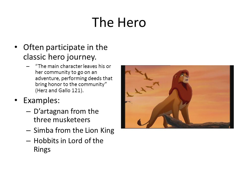 The hero s quest the lion the