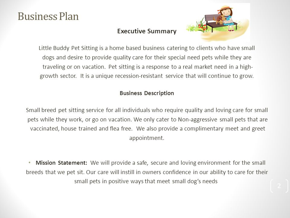 Dog Grooming Business Plan Sample