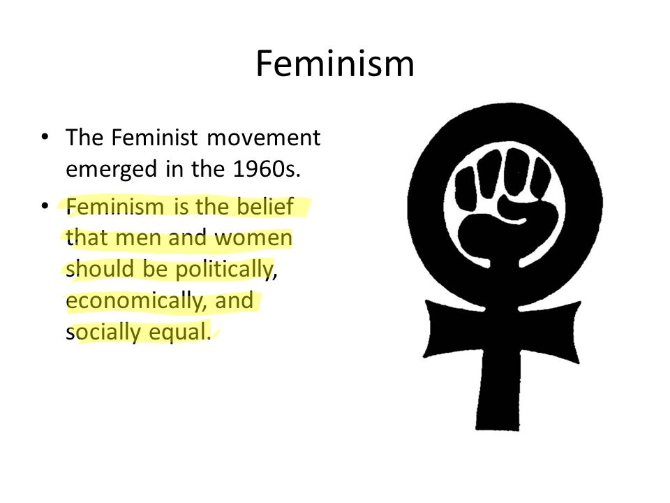 a look at feminism and the idea behind the movement Transcendentalism is a very formal word that describes a very simple idea and writing the feminist treatise  he inspired his colleagues to look into.
