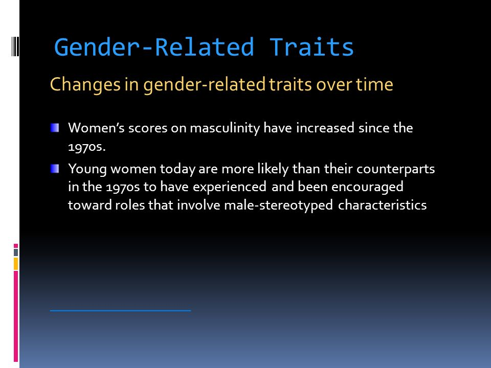 Gender-Related Traits