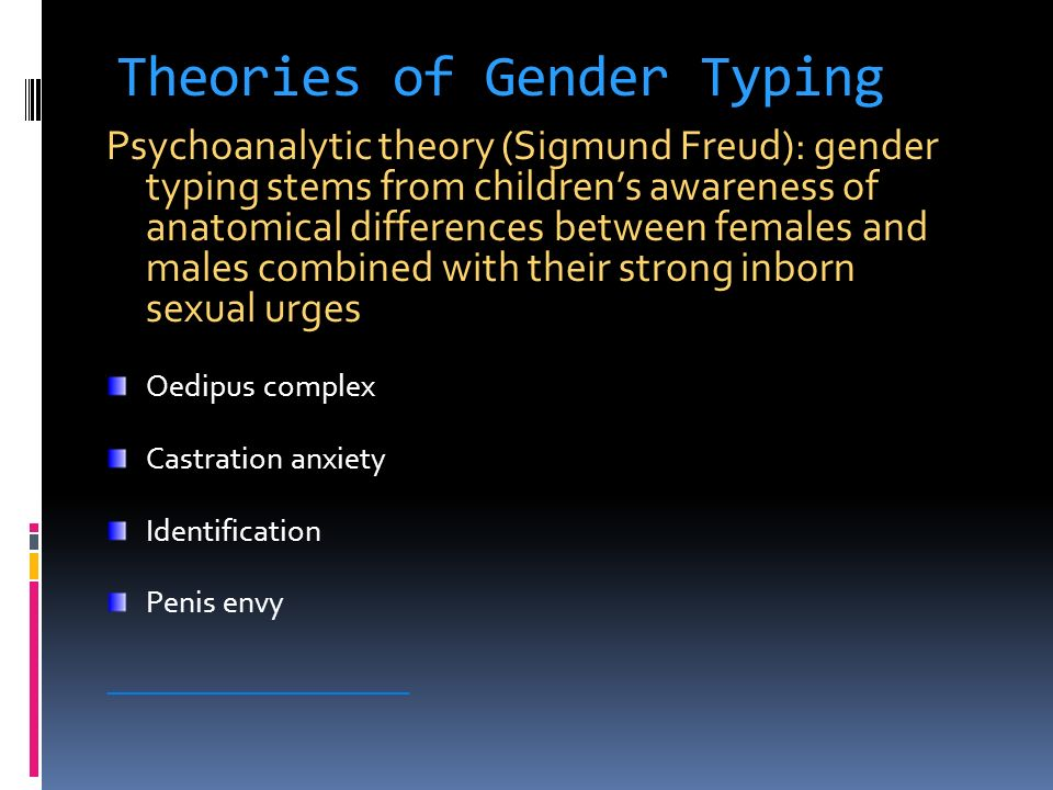 Theories of Gender Typing