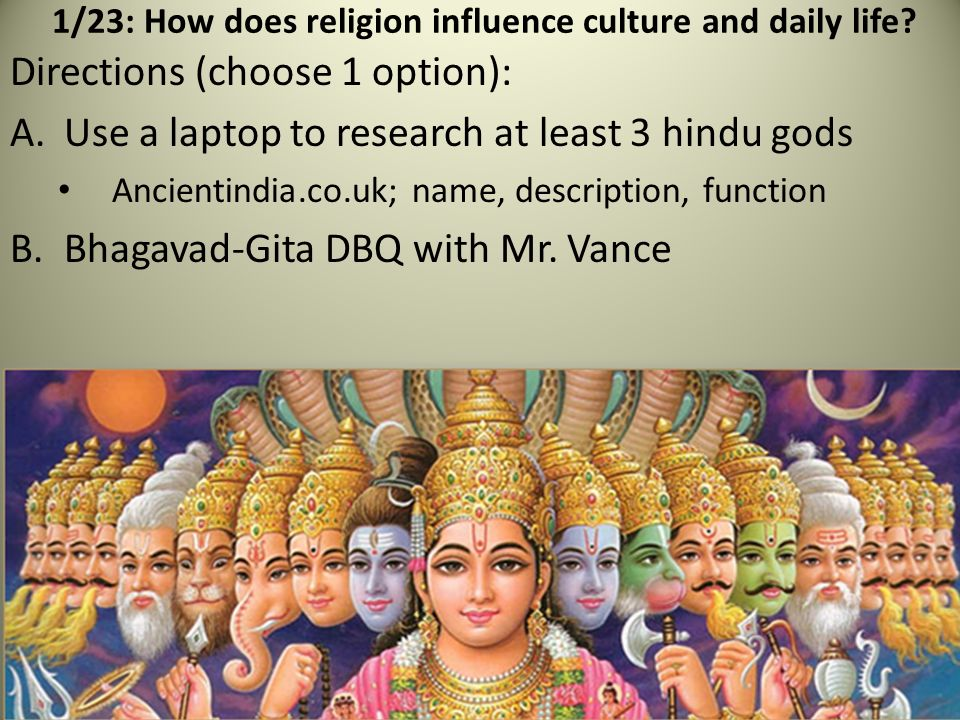 Hindu Religious Traditions Paper