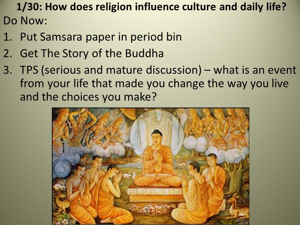 religions affect society Does the culture of a society affect religion or does religion affect the culture of a society discussion in 'general religious debates' started by tranquil servant, sep 16, 2012.