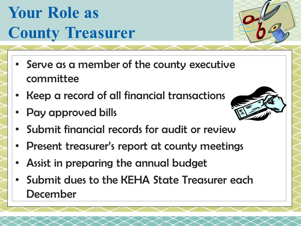 Your Role as County Treasurer