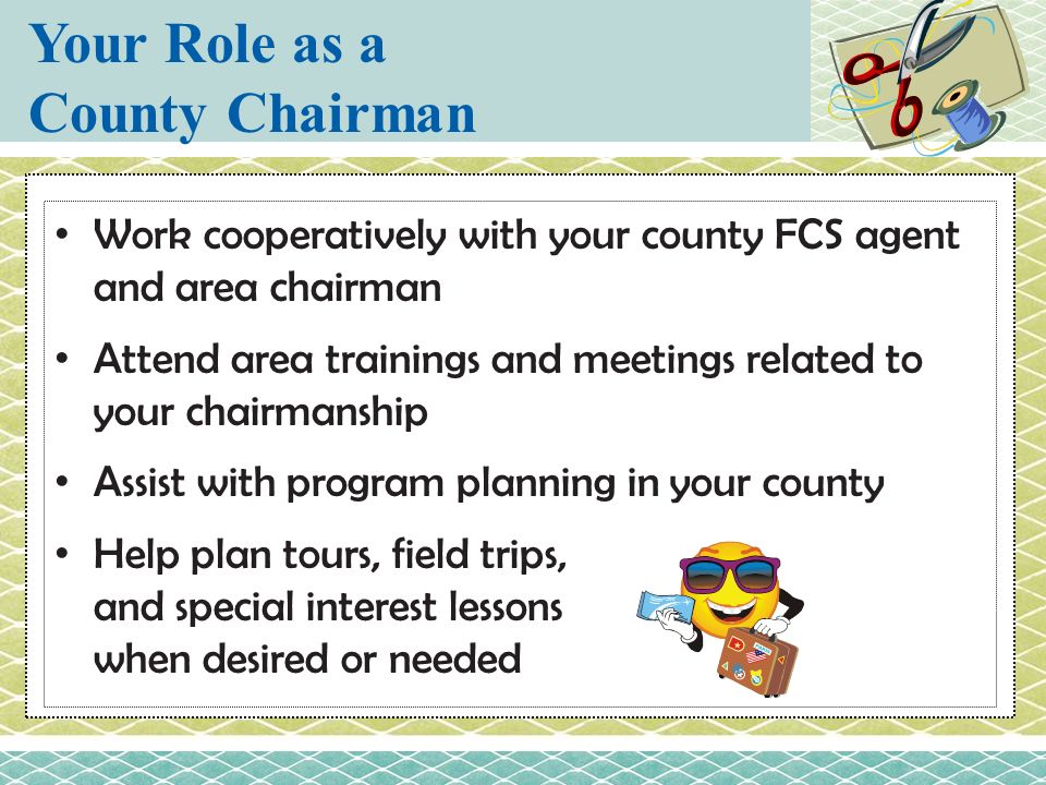 Your Role as a County Chairman