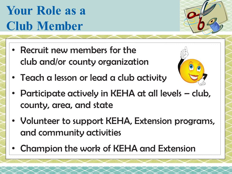 Your Role as a Club Member