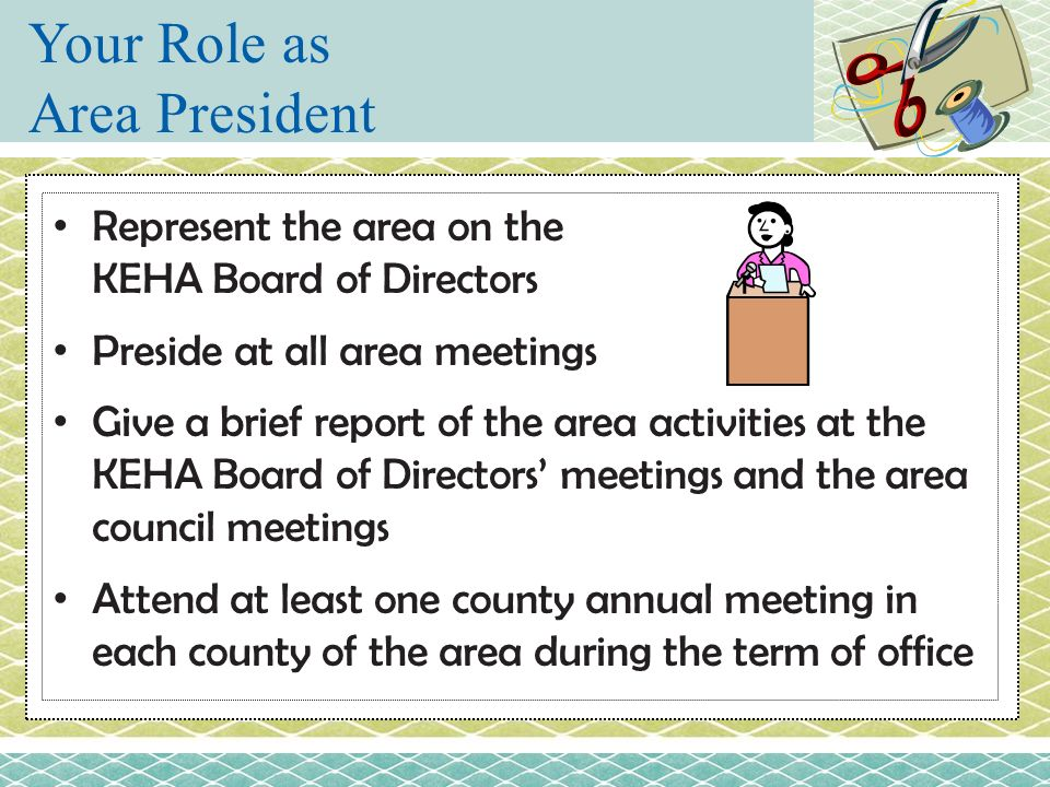 Your Role as Area President