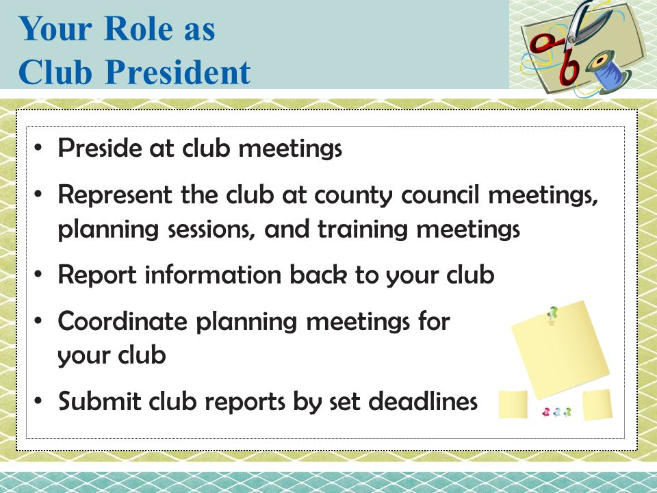Your Role as Club President