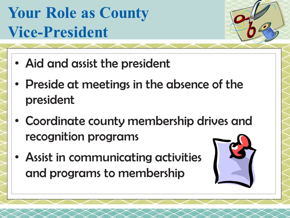 Your Role as County Vice-President