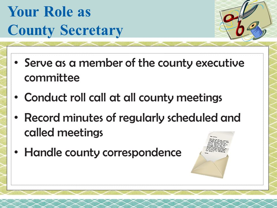 Your Role as County Secretary