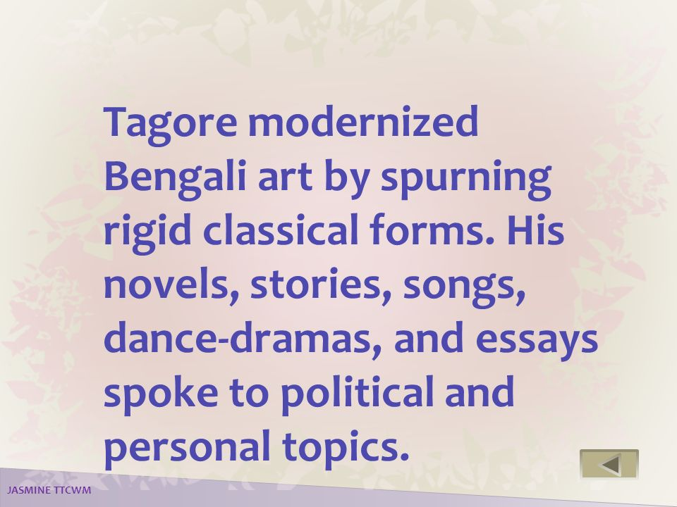 welcome to my presentation ppt video online 14 tagore modernized bengali
