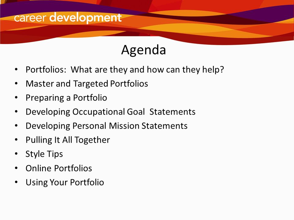Agenda Portfolios: What are they and how can they help