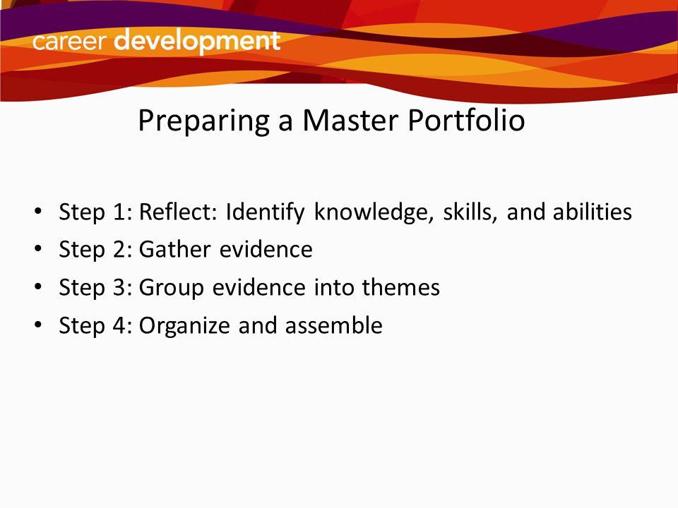 Preparing a Master Portfolio