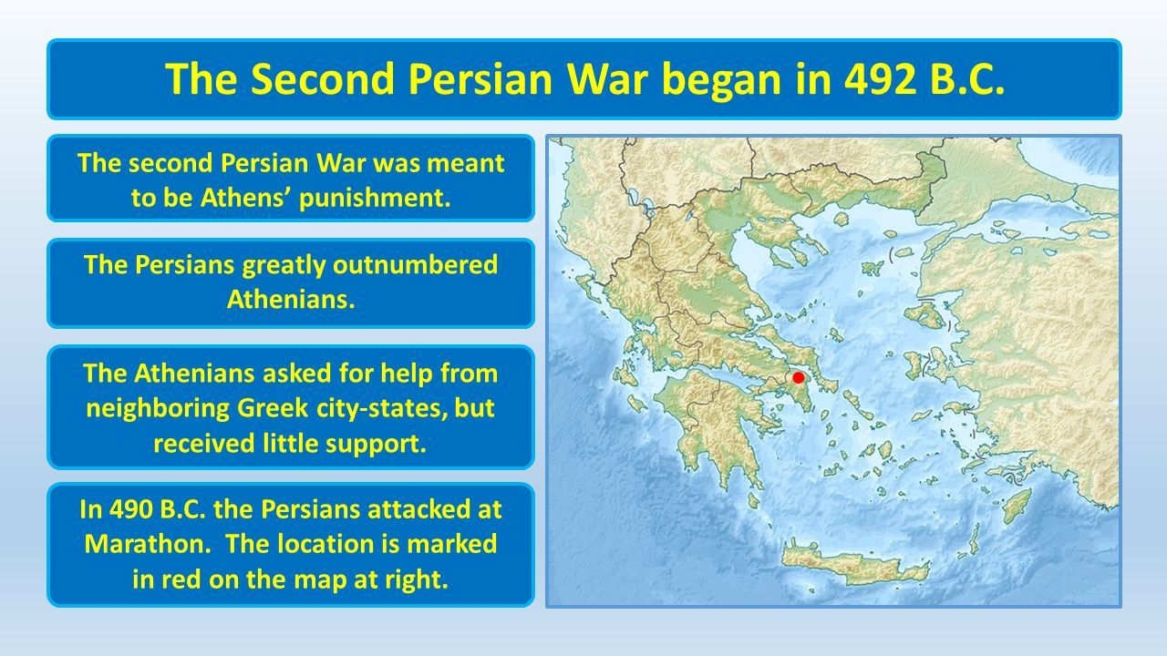 the second persian war Chronological table for persian history and the persian wars  prominent  delphian urges hellenic league to approach apollo a second time, this time as.