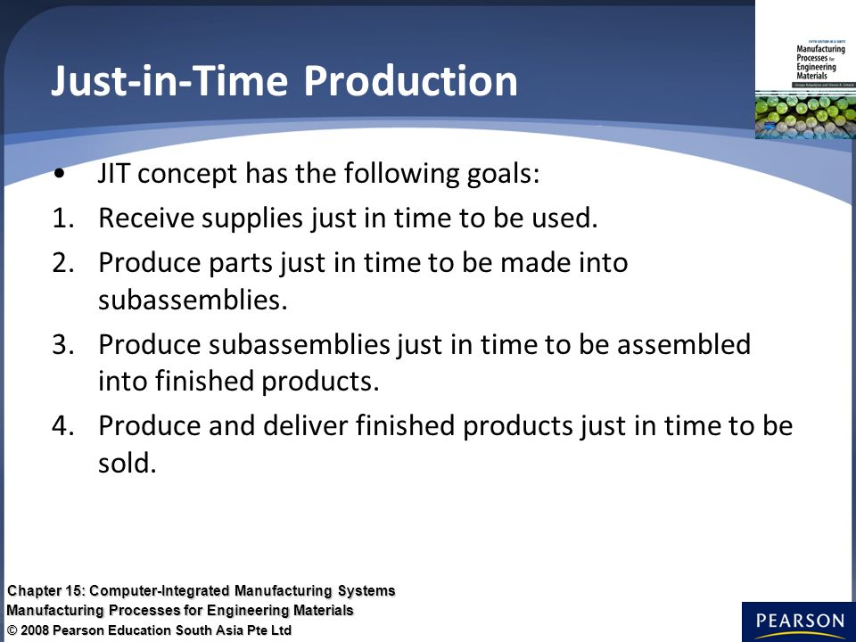 Chapter 15 Computer Integrated Manufacturing Systems