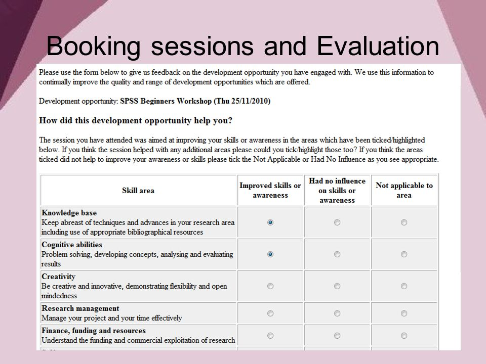 6 booking sessions and evaluation - How Did You Improve Your Skills What Have You Done To Develop Your Skills