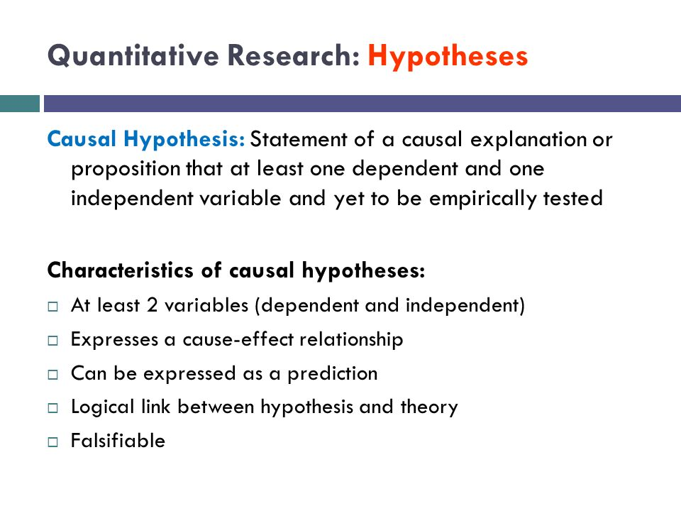quantitative research paper hypothesis
