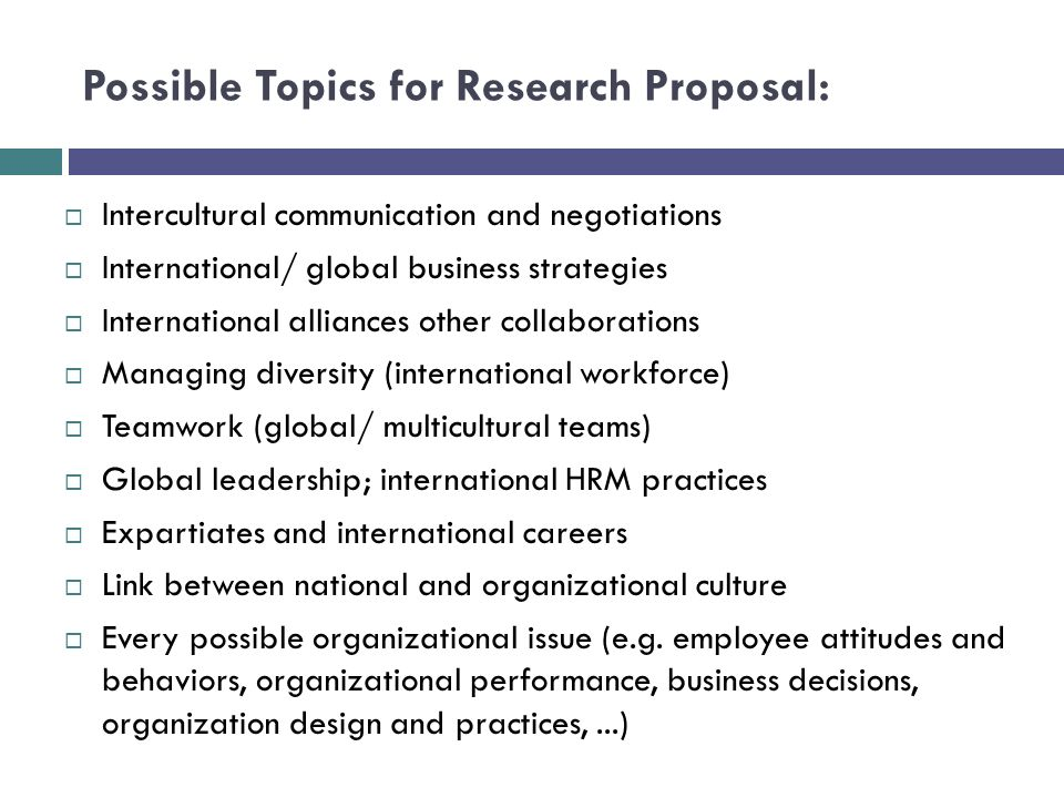 examples of business research topics