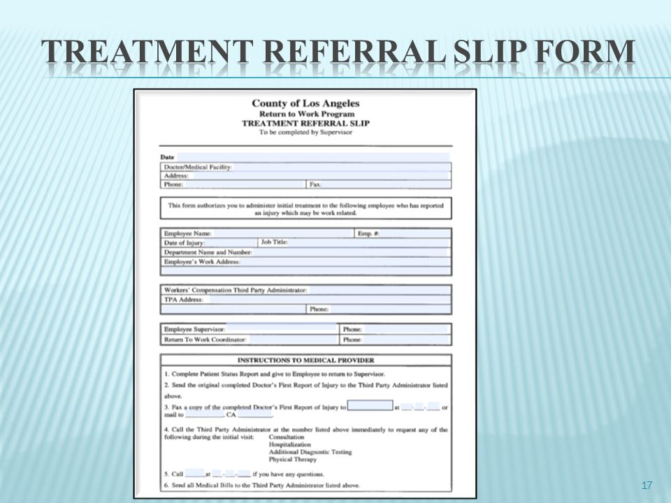 Chief Executive Office Risk Management RETURN TO WORK Unit ppt – Return to Work Medical Form