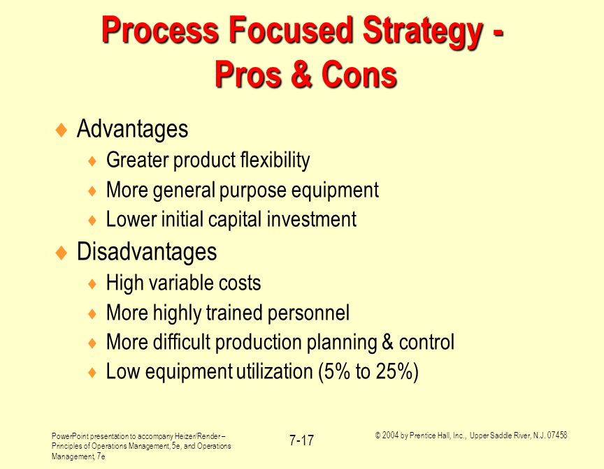 Process Focused Strategy - Pros & Cons