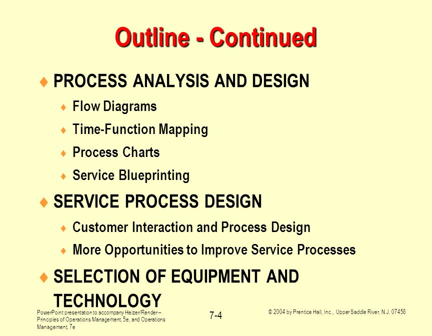 Operations management ppt download outline continued process analysis and design service process design malvernweather Image collections