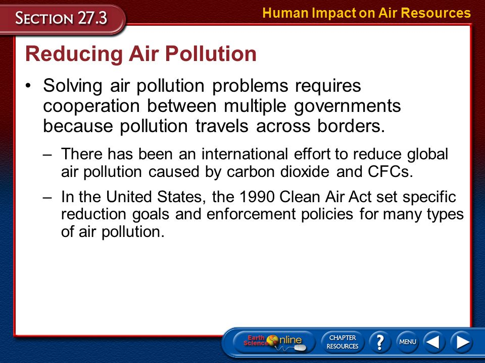 an overview of the air quality and the issue of the air pollution in the united states Air pollution is the introduction of chemicals, particulate matter, or biological materials that cause harm or discomfort to humans or other living organisms, or damages the natural environment into the atmosphereever since the beginning of the industrial revolution in the united states, america has had much trouble with environmental issues, air pollution in particular.