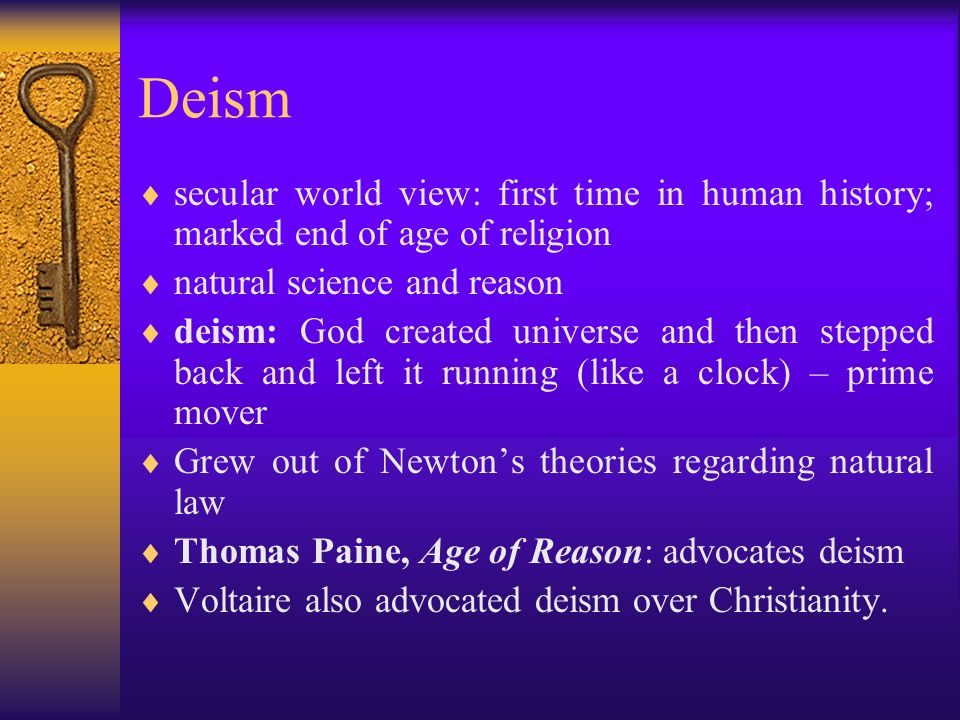Thomas paine deism essay