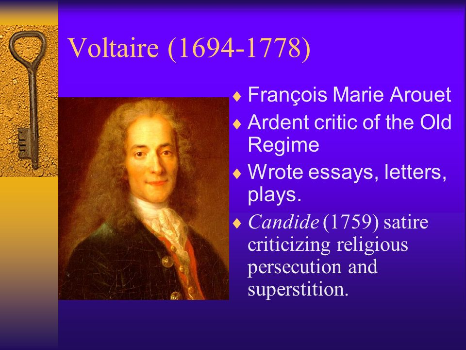 voltaire religion essay From the essay attacking optimism: everything isn't for the best, and voltaire   supreme being but denies revealed religion, instead basing his or her belief on.