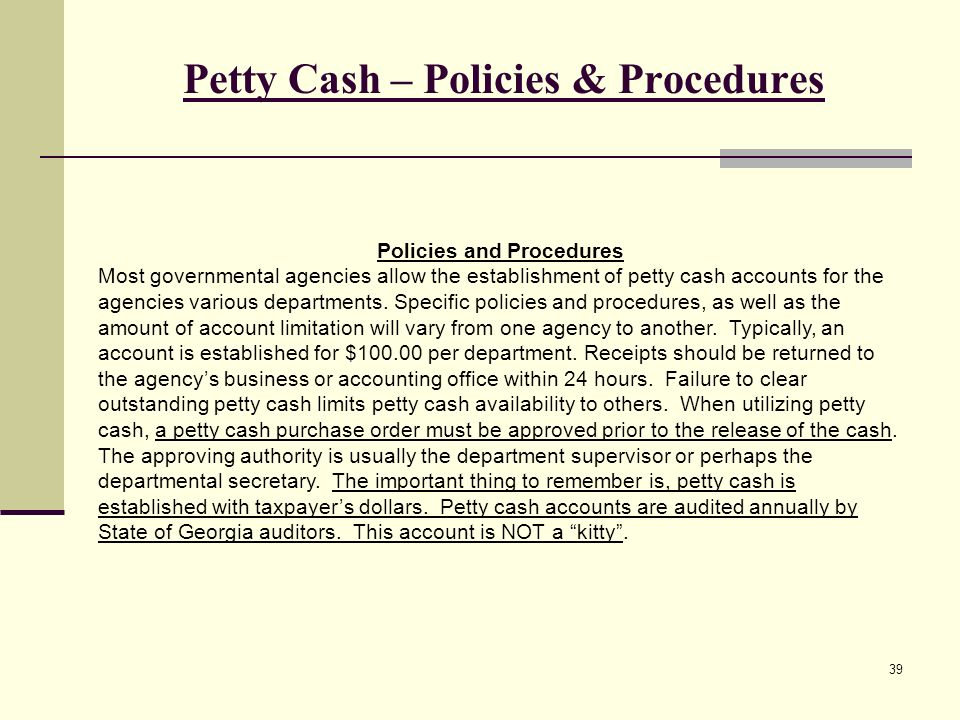 The purpose of the workshop ppt video online download for Petty cash policy template