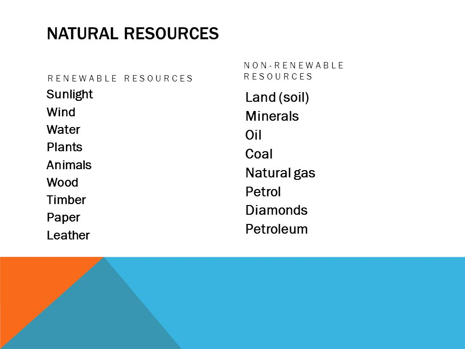 Use 'non-renewable resource' in a Sentence