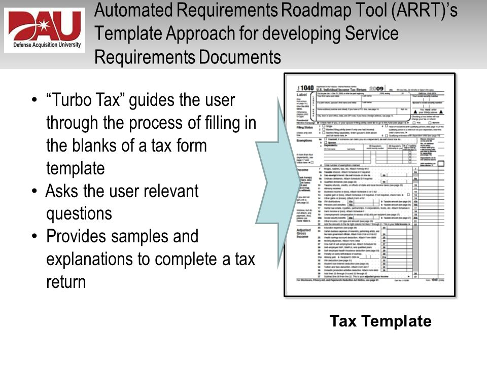 Automated Requirements Roadmap Tool (ARRT)'s Template Approach for developing Service Requirements Documents