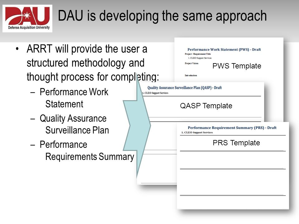DAU is developing the same approach