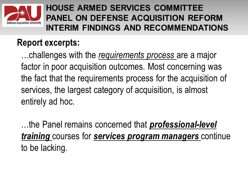 HOUSE ARMED SERVICES COMMITTEE
