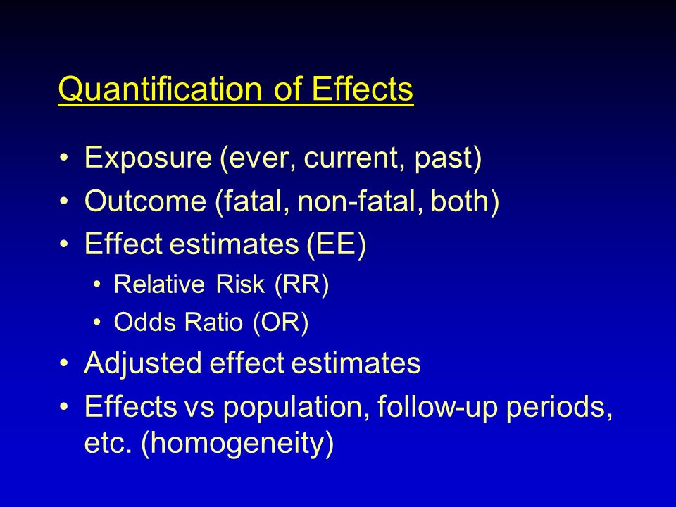Quantification of Effects