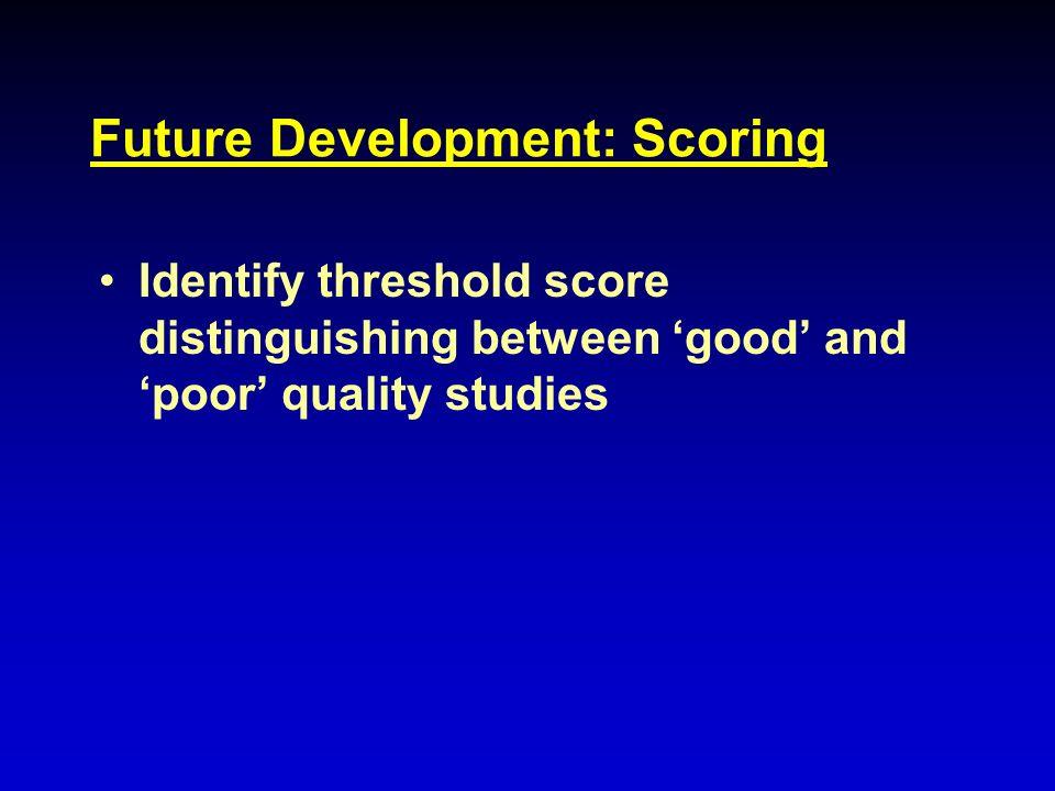 Future Development: Scoring