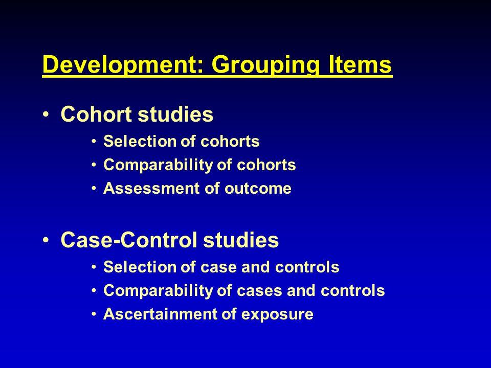 Development: Grouping Items
