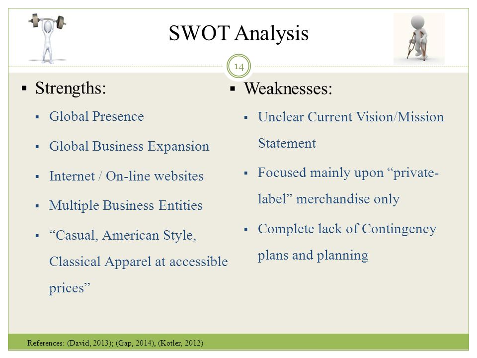 old navy swot analysis Situation analysis (swot) analysis strengths old navy's strengths include the fact that they offer clothing and accessories for the whole family at value prices, they have high brand recognition, including their latest catchy campaign: get your fash'on.