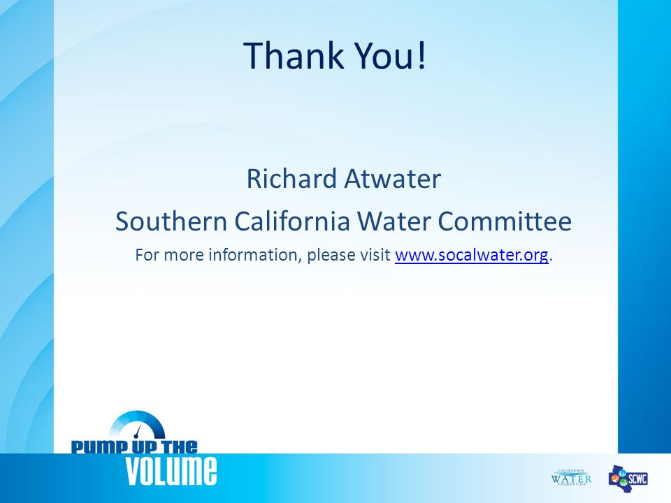 Southern California Regional Watershed Supply Alternatives